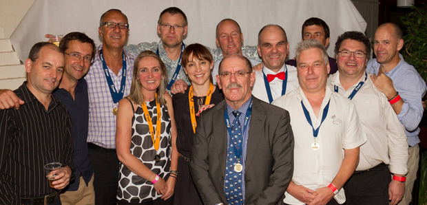 Moz, pictured with fellow Life Members at the 2014 Presentation Night.